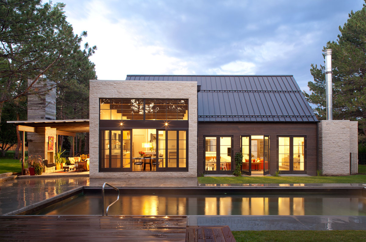 Pool Lighting Modern Home Home in Boulder Colorado