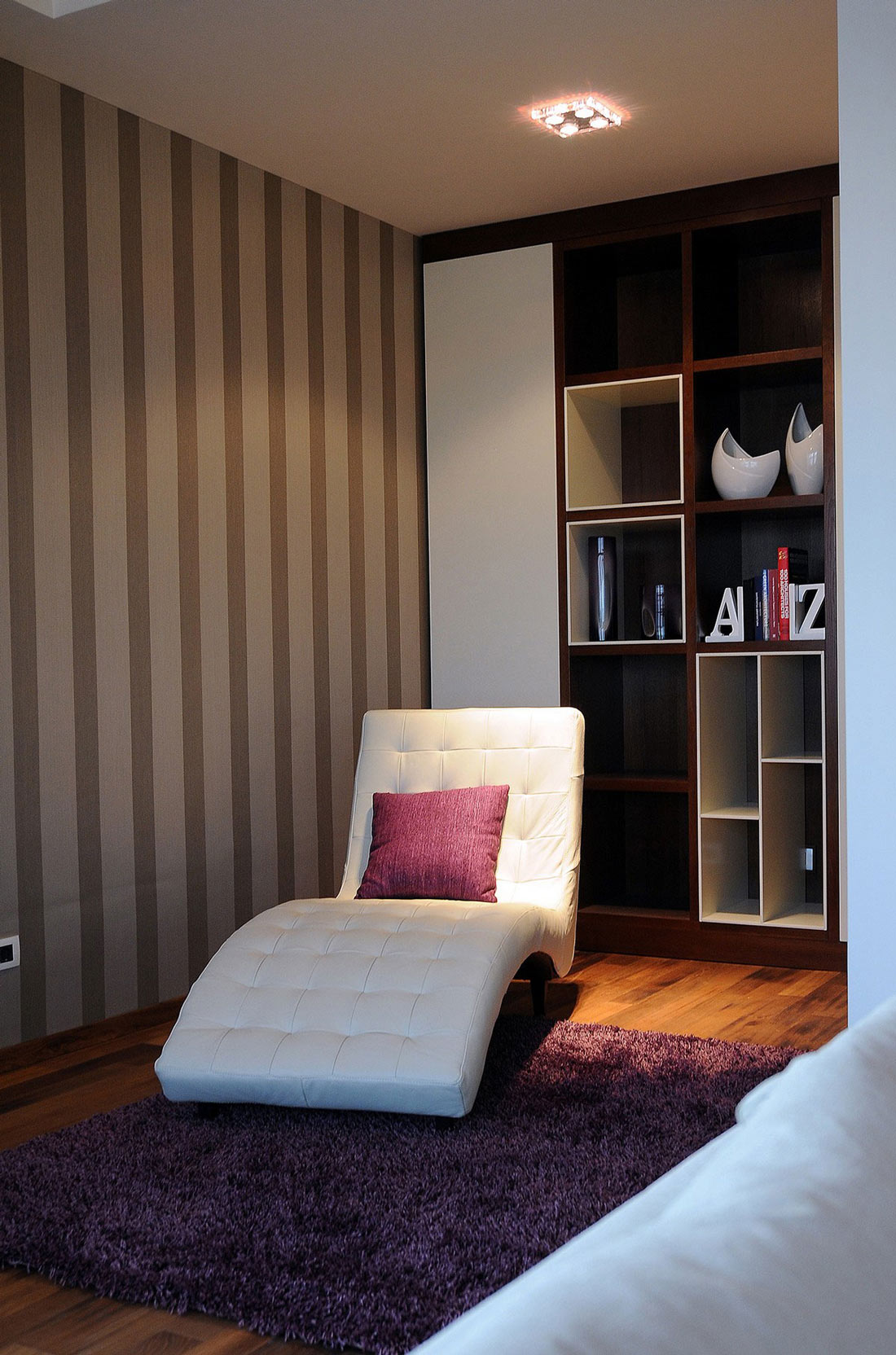 Shelving, Chair, Penthouse in Belgrade, Serbia