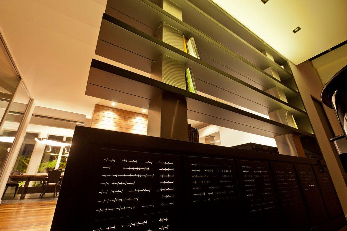 Shelves, Renovation of a Hal Levitt Home in Beverly Hills