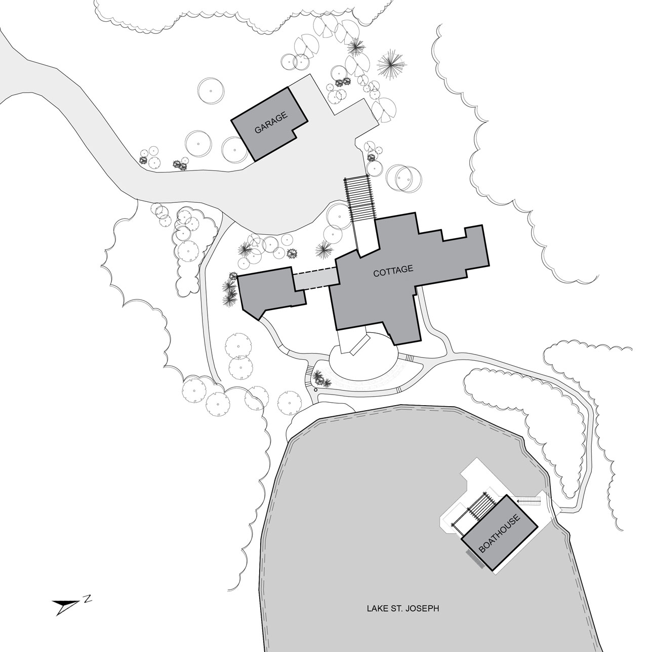 Site Plan, Boathouse Renovation and Extension in Muskoka Lakes, Ontario