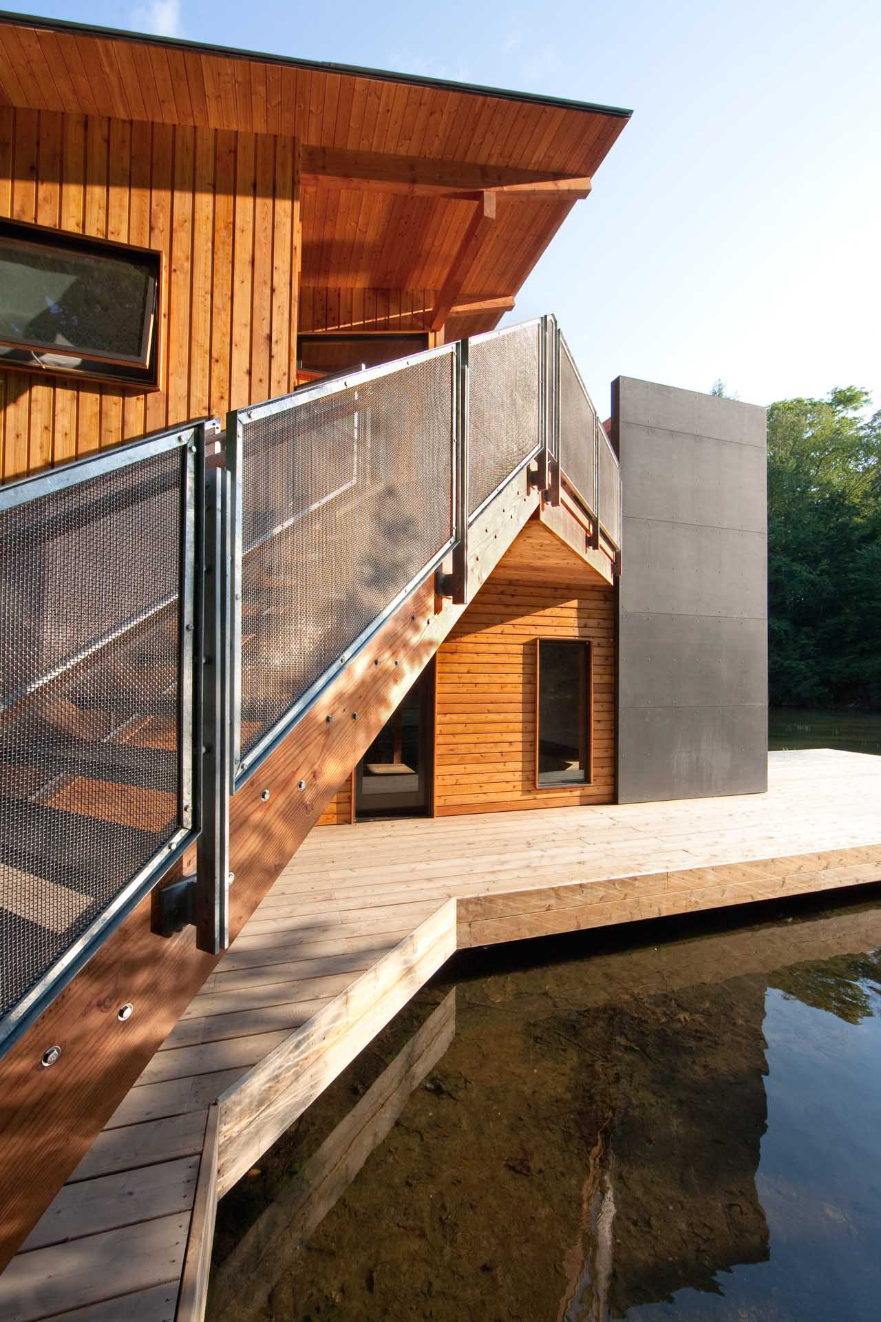 Stairs, Boathouse Renovation and Extension in Muskoka Lakes, Ontario