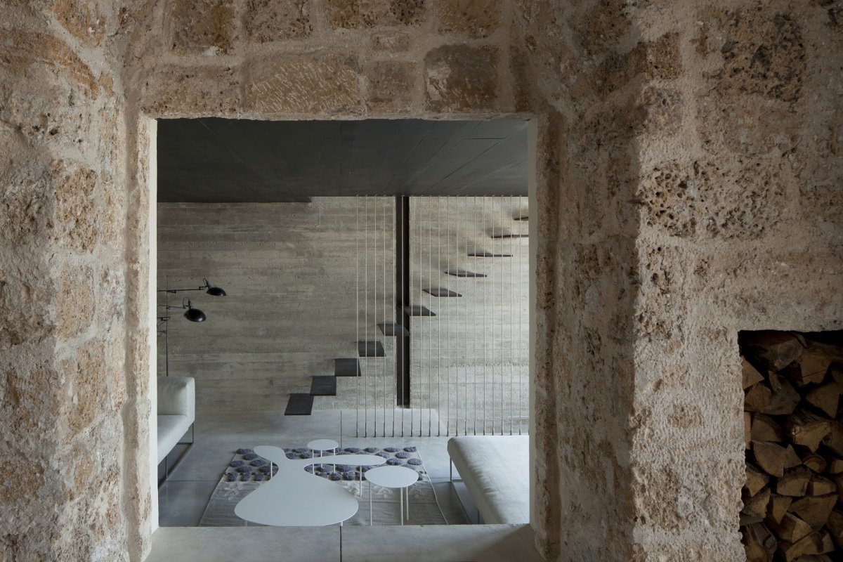 Stone Walls, Stairs, Contemporary Renovation in Old Jaffa, Tel Aviv