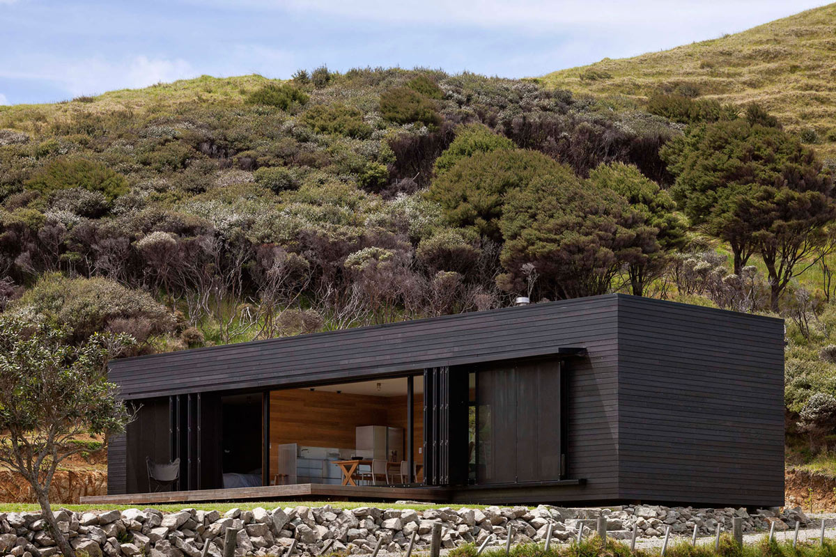 Terrace, Cottage on Great Barrier Island, New Zealand