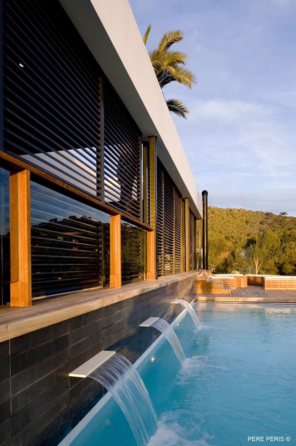 Water Feature, Swimming Pool, Stylish Glass Home in Valencia, Spain