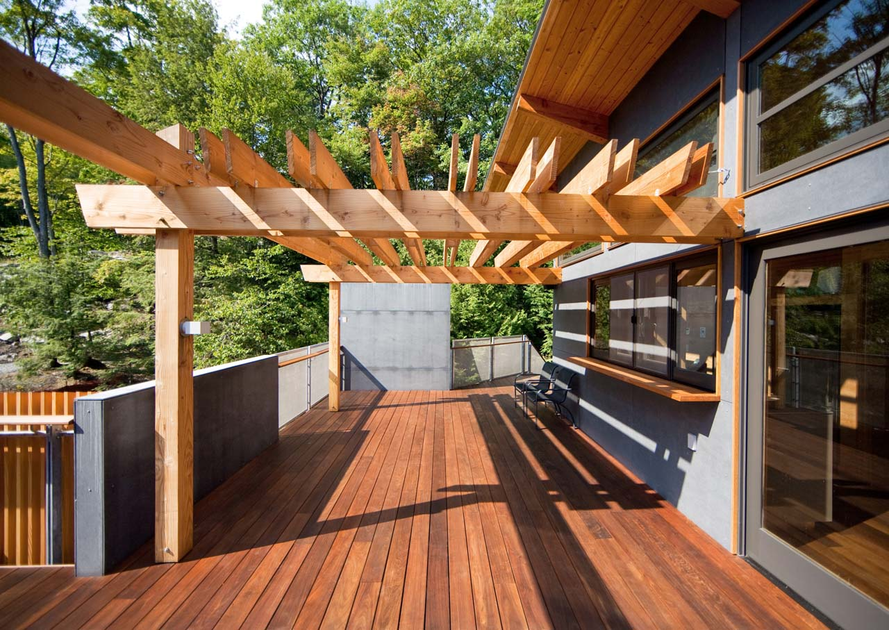 Wood Deck, Terrace, Pergoda, Boathouse Renovation and Extension in Muskoka Lakes, Ontario