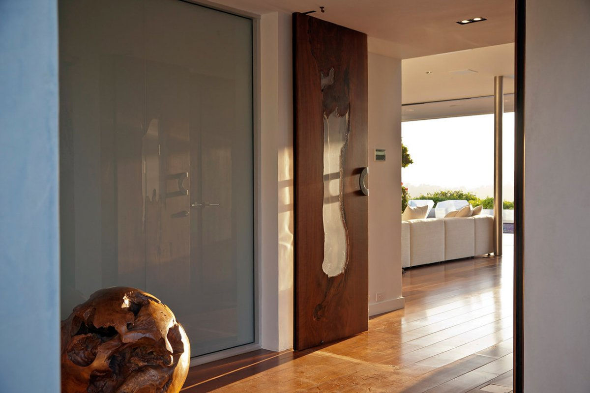 Wood Glass Doors, Renovation of a Hal Levitt Home in Beverly Hills