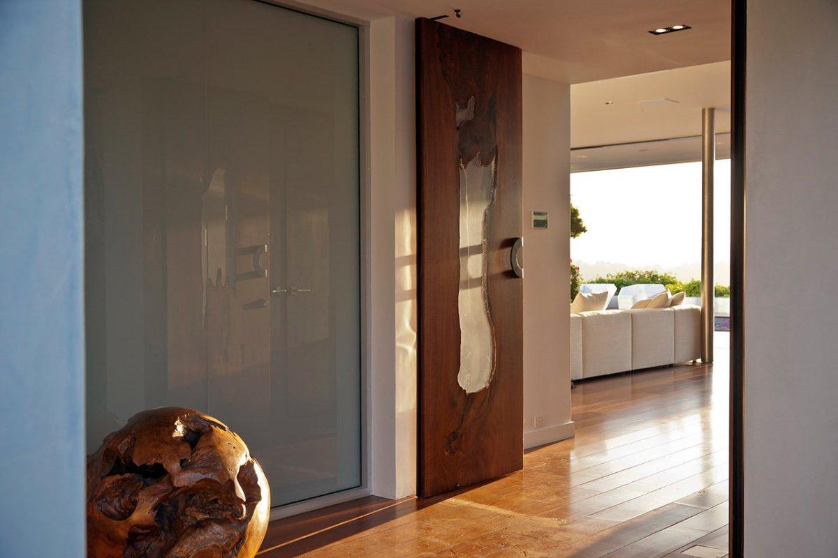 Wood Glass Doors, Renovation of a Hal Levitt Home in Beverly Hills