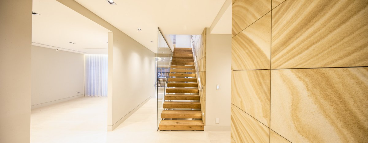 Wood Stairs, Contemporary Home in Strathfield, Australia