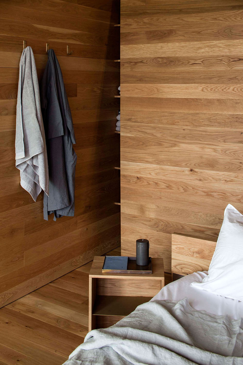 Wooden Walls, Floor, Cottage on Great Barrier Island, New Zealand