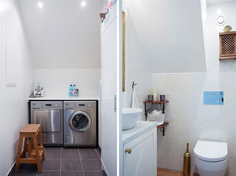Bathroom & Utility Rooms, Loft Apartment in Kungsholmen, Stockholm