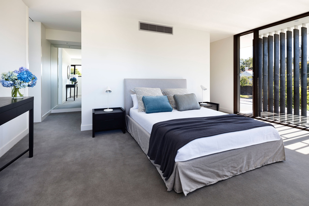 Bedroom, California House in Brighton, Australia