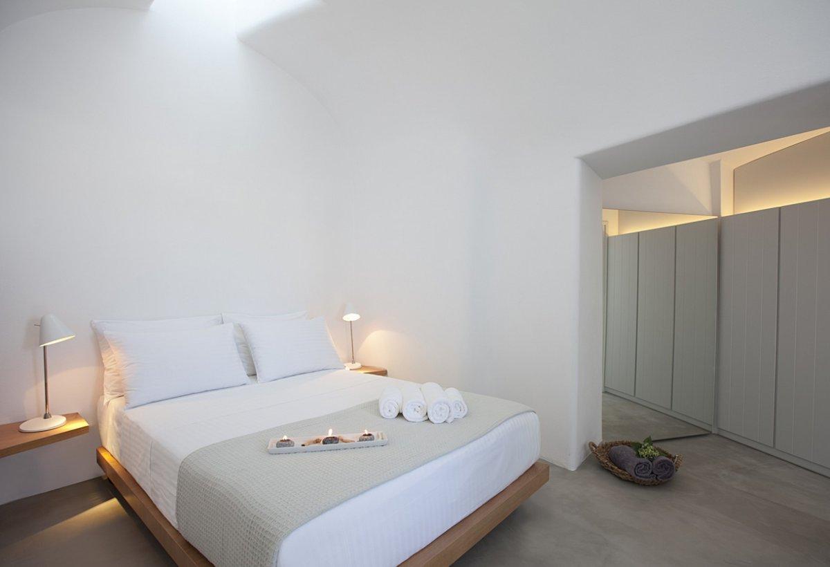 Bedroom, Table Lights, Villa Renovation in Megalochori, Santorini