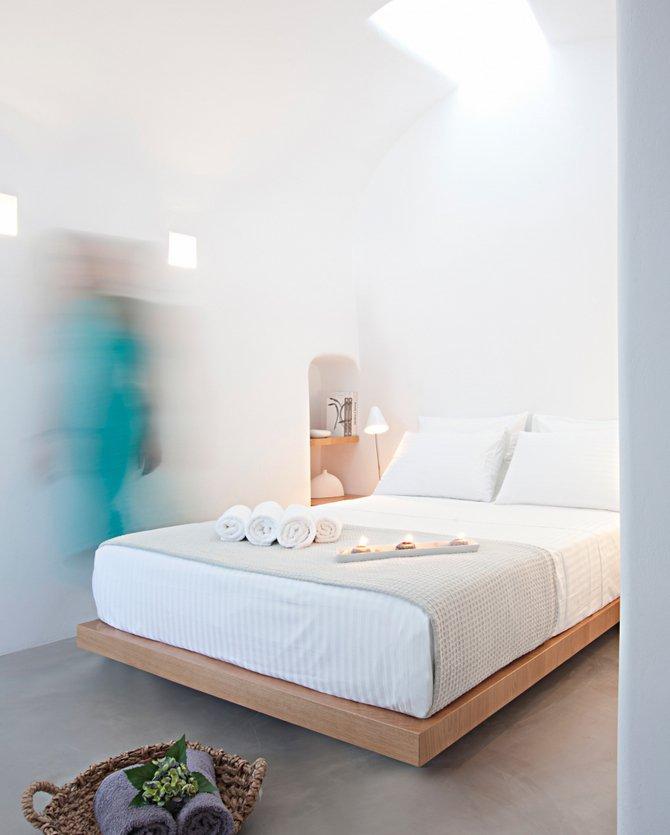 Bedroom, Villa Renovation in Megalochori, Santorini