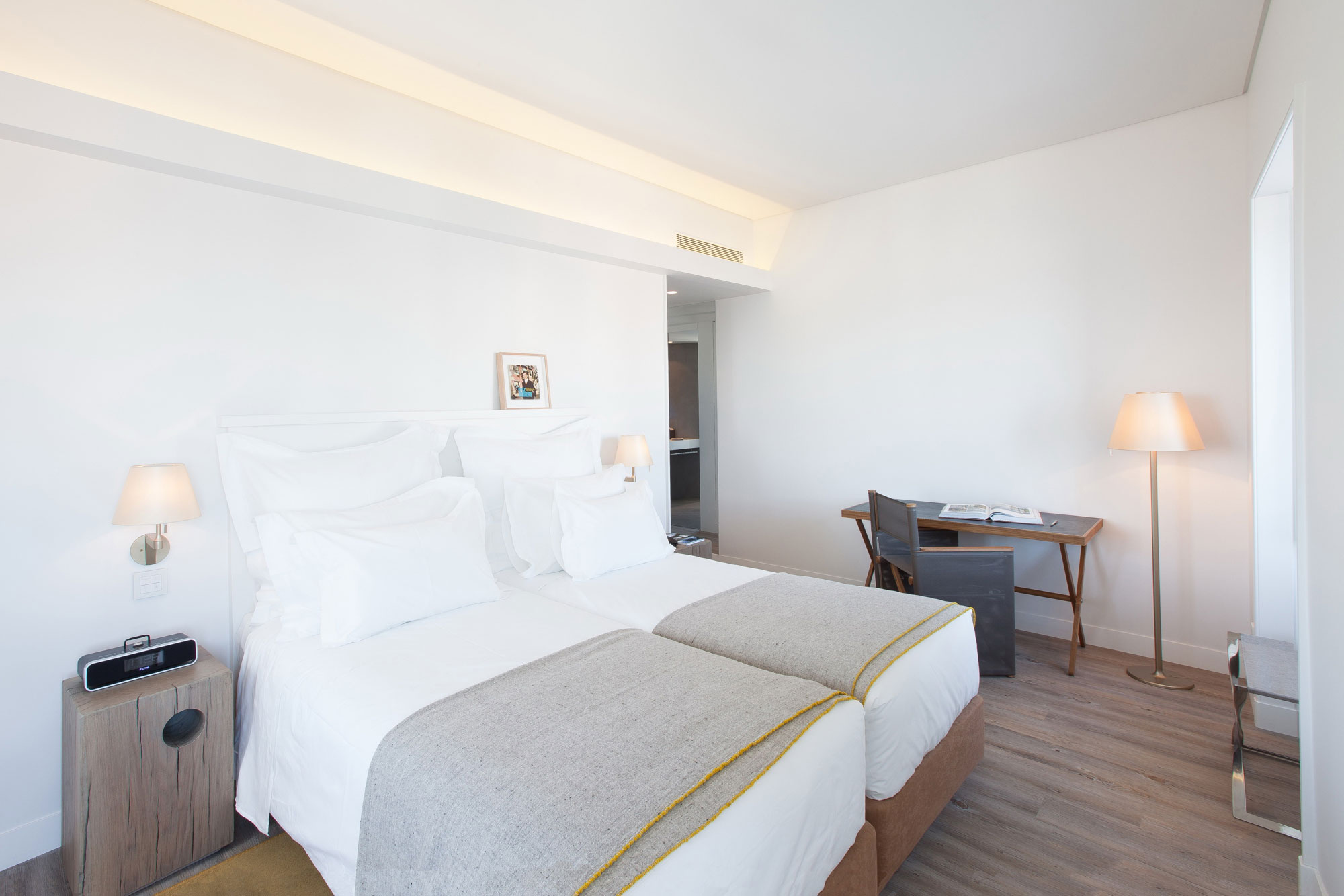 Beds, Side Table, Desk, Boutique Hotel in the Heart of Alfama, Lisbon