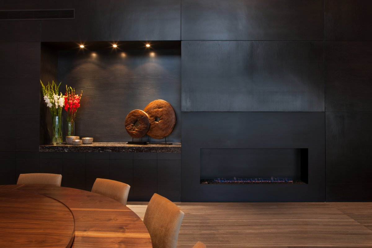 Black Granite Walls, Stylish Contemporary Home in Garza Garcia, Mexico