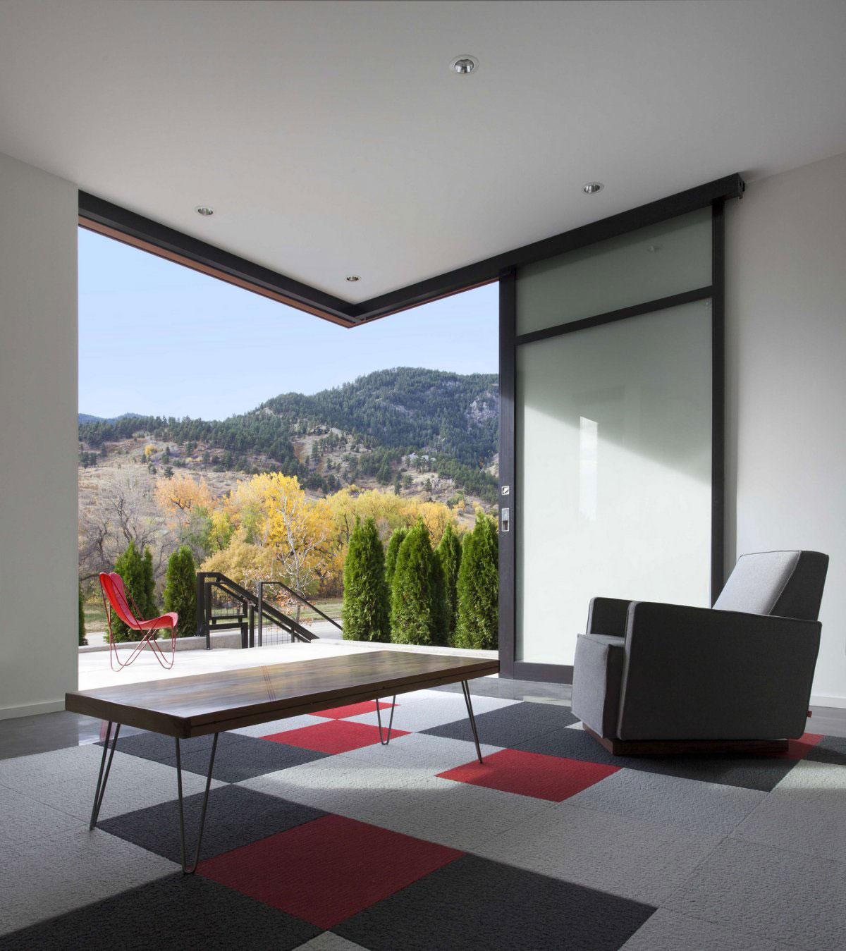 Coffee Table, Rug, Chair, Mountain View, Stylish Townhomes near Boulder, Colorado