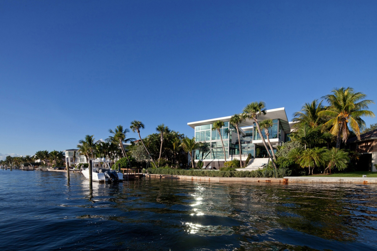 Dock, Water Views, Waterfront Residence in Coral Gables, Miami