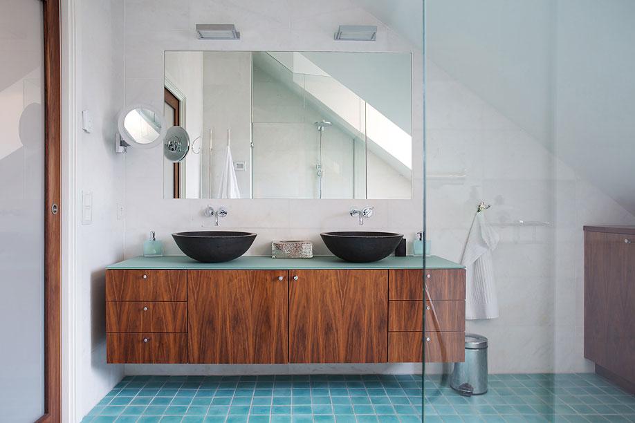 Double Sinks, Bathroom, Loft Apartment in Kungsholmen, Stockholm
