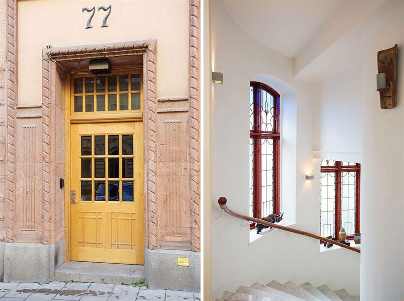 Entrance, Stairs, Loft Apartment in Kungsholmen, Stockholm