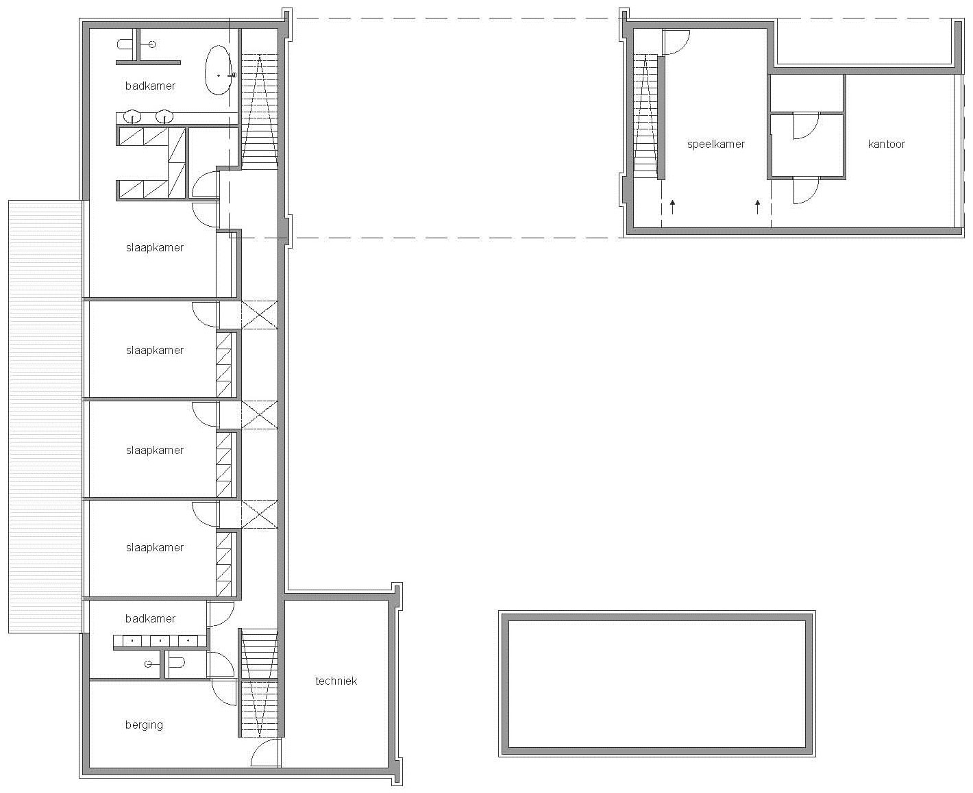 First Floor Plan, Modern Home in Oosterhout, The Netherlands