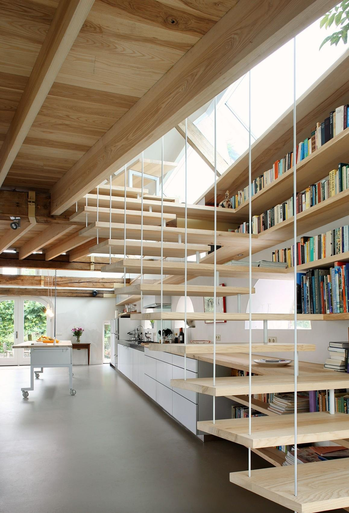 Floating Stairs, Barn Conversion in Geldermalsen, The Netherlands