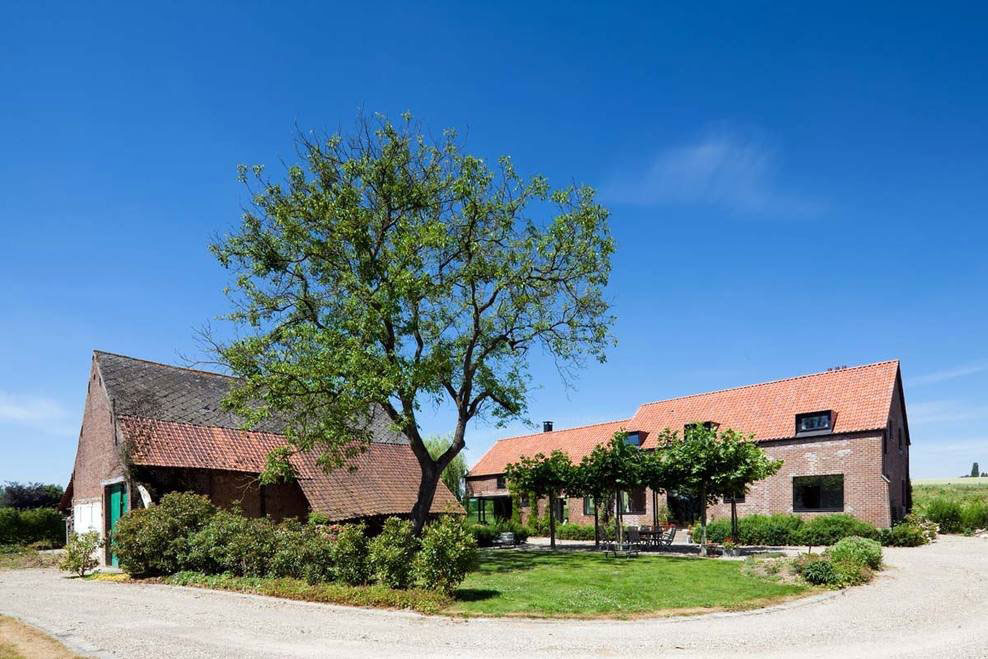 Garden, Farmhouse Renovation in Lennik, Belgium