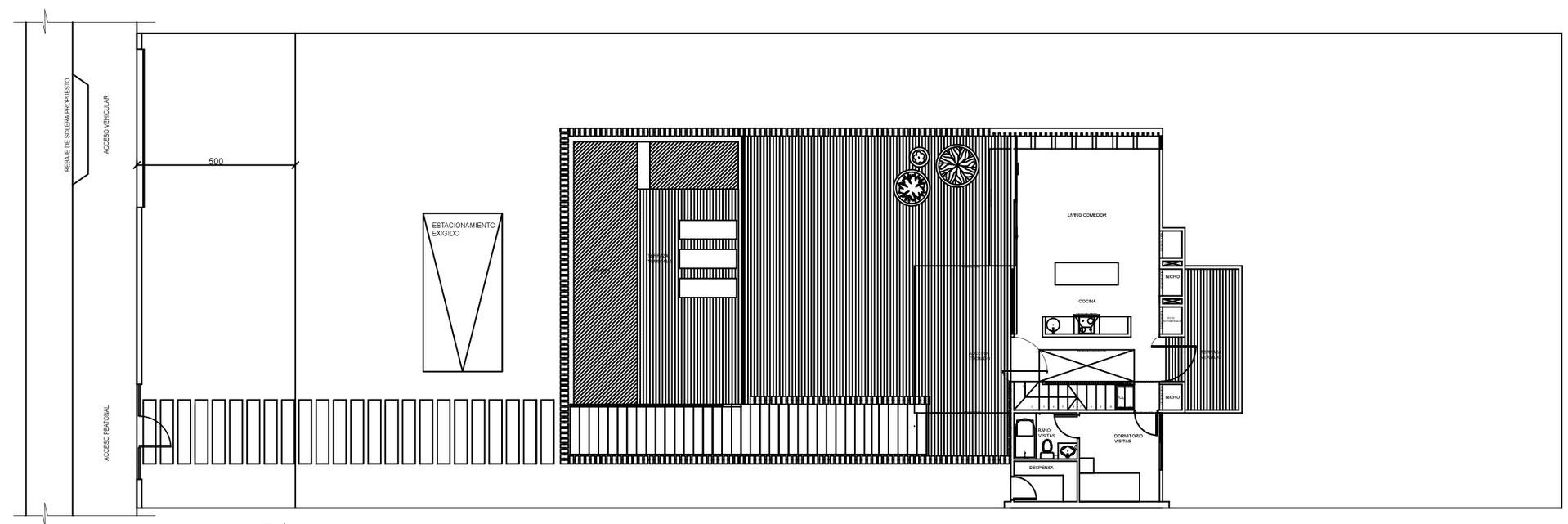 Ground Floor Plan, Family Home in Algarrobo, Chile