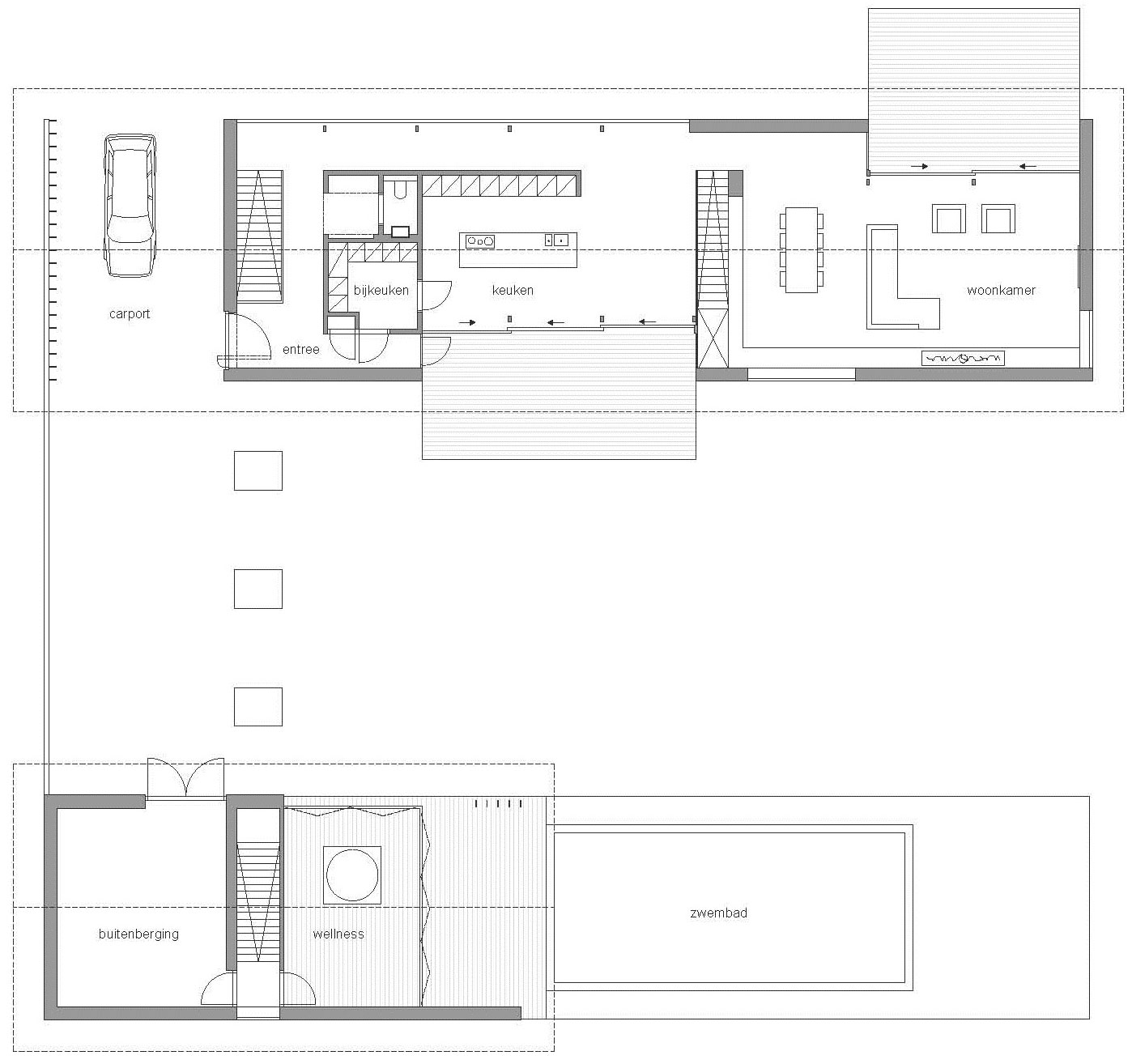Ground Floor Plan, Modern Home in Oosterhout, The Netherlands