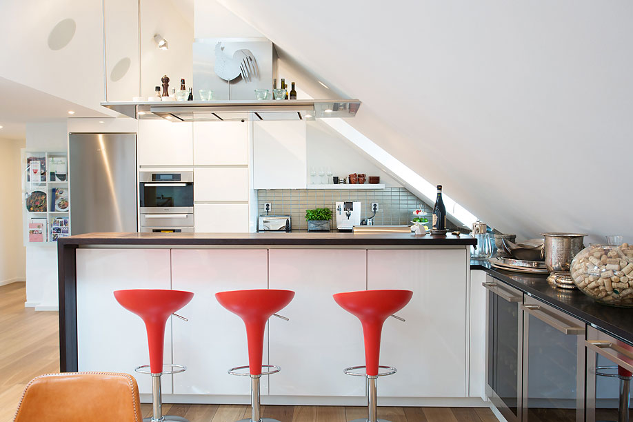 Kitchen, Breakfast Bar, Loft Apartment in Kungsholmen, Stockholm