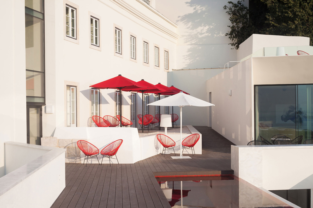 Outdoor Living, Wood Deck, Boutique Hotel in the Heart of Alfama, Lisbon