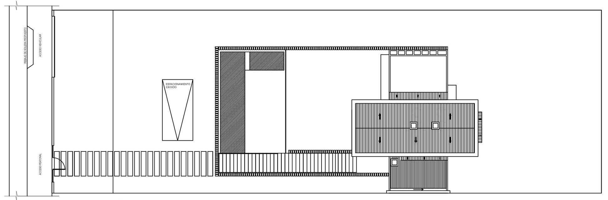 Roof Plan, Family Home in Algarrobo, Chile