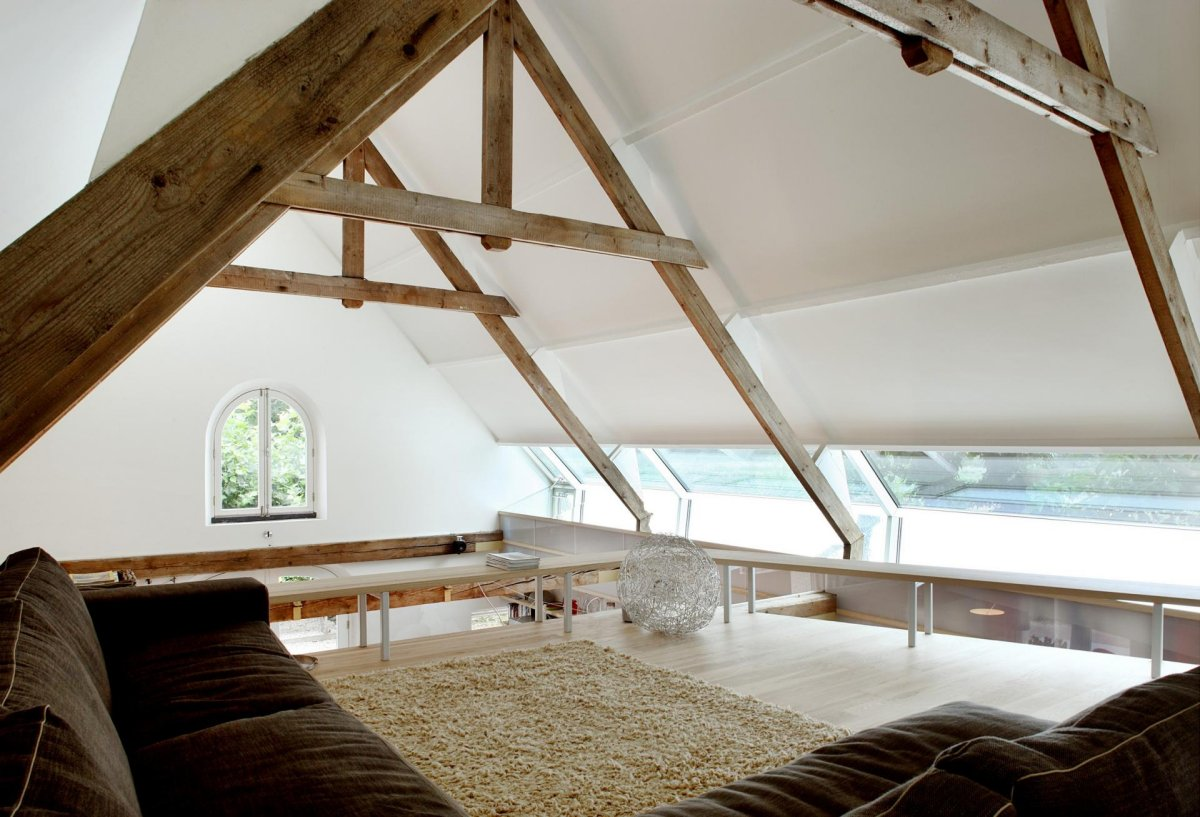 Rug, Sofa, Beams, Barn Conversion in Geldermalsen, The Netherlands