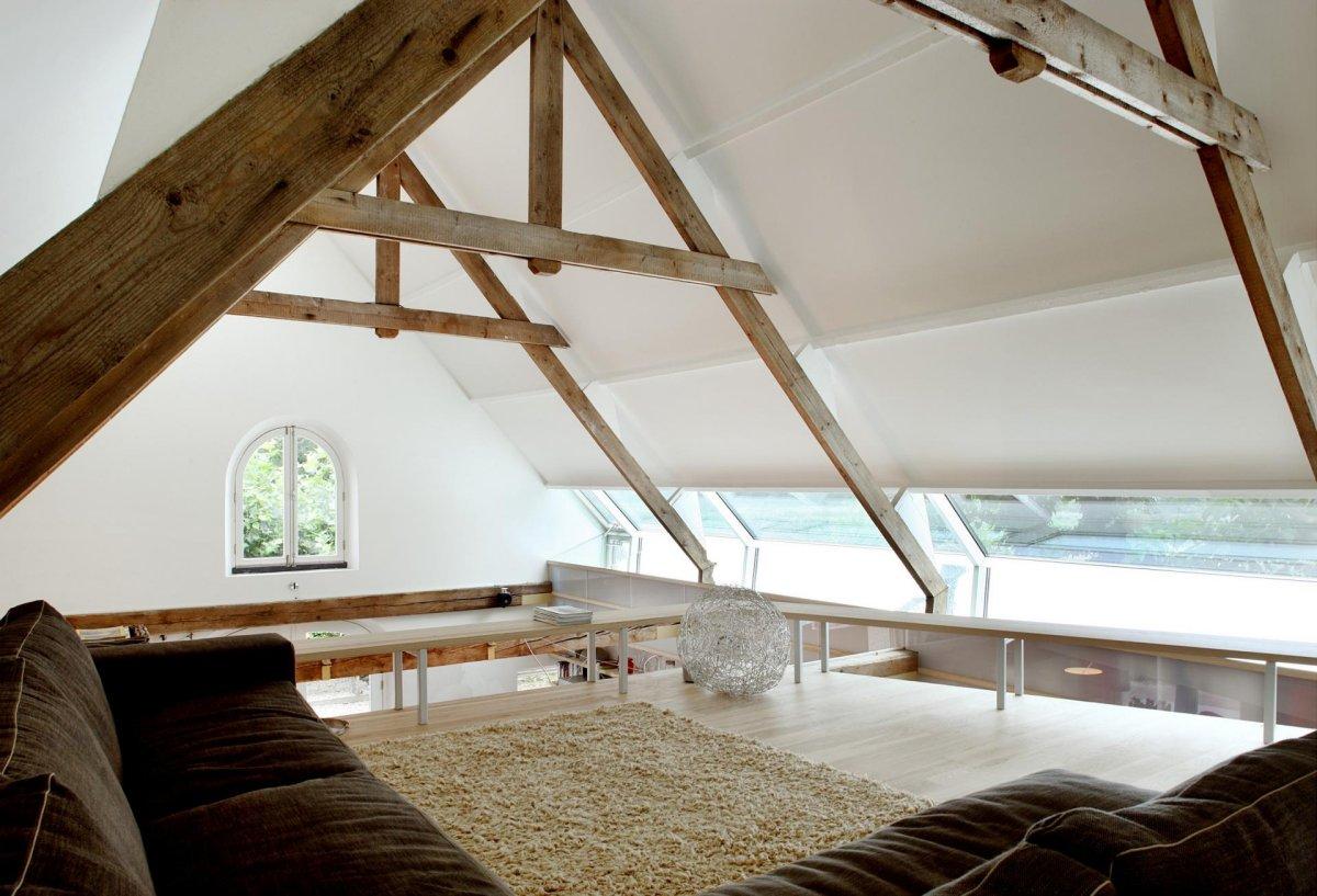 Rug, Sofa, Beams, Barn Conversion in Geldermalsen, The Netherlands