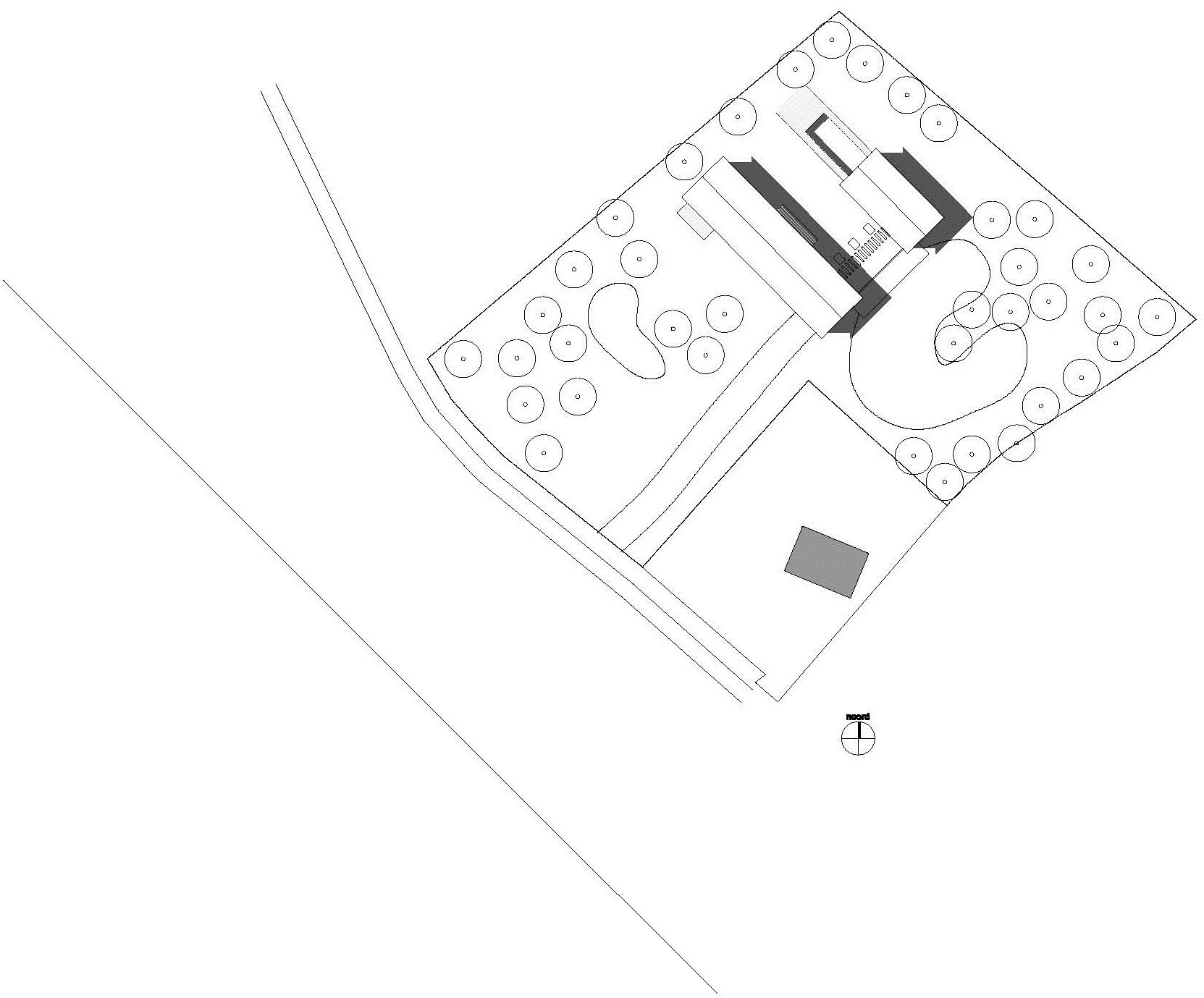 Site Plan, Modern Home in Oosterhout, The Netherlands