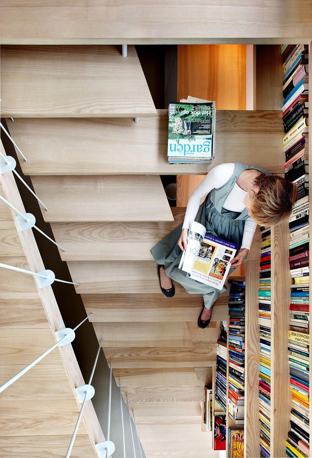 Stair, Reading Seat, Barn Conversion in Geldermalsen, The Netherlands