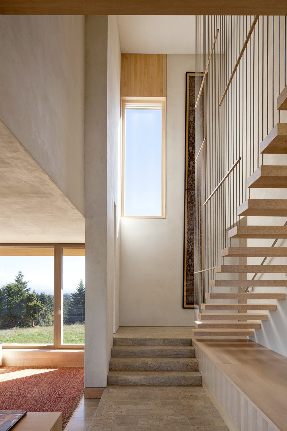 Stairs, Sustainable House in Newberg, Oregon