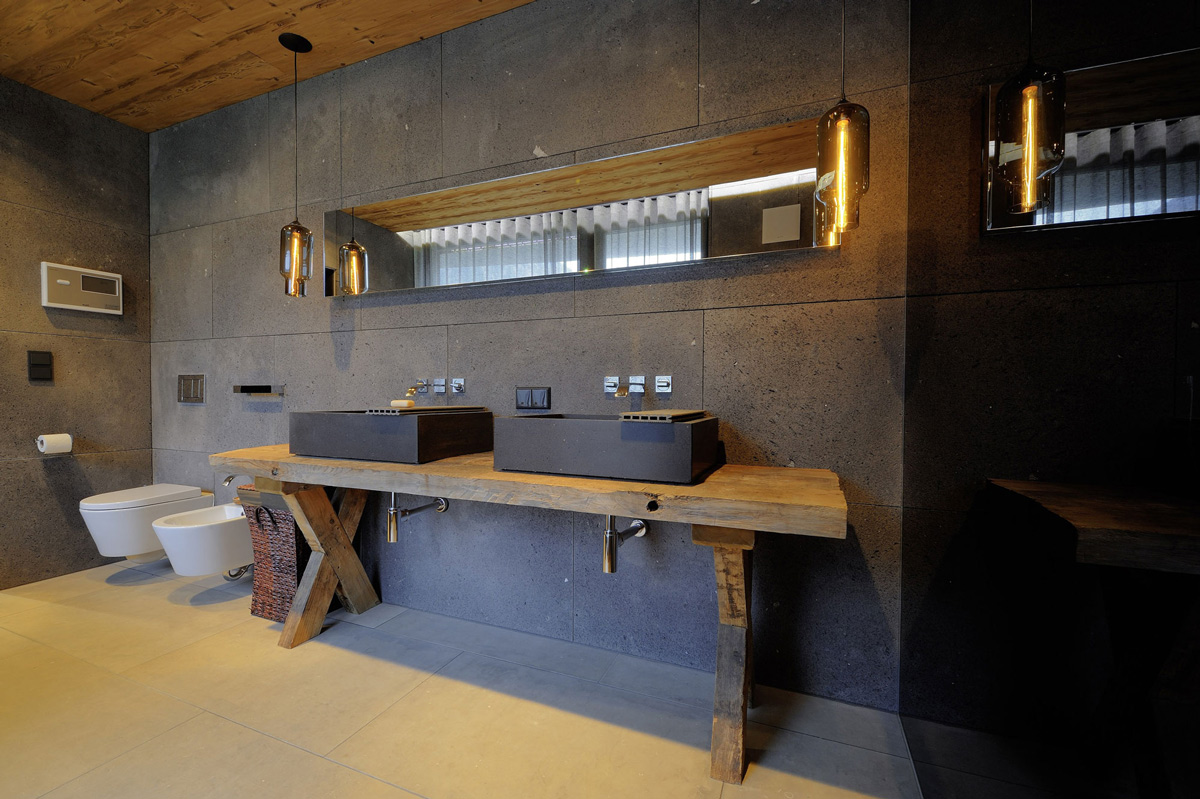 Stone Sinks, Lighting, Apartments in Kappl, Austria