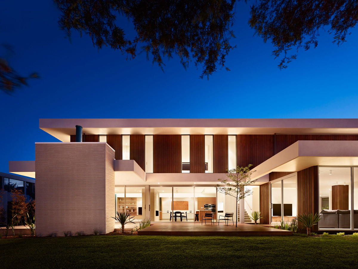 Terrace, Lighting, Evening, California House in Brighton, Australia