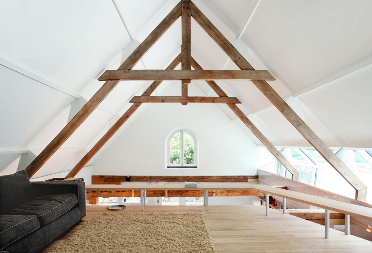Vaulted Ceilings, Living Space, Barn Conversion in Geldermalsen, The Netherlands
