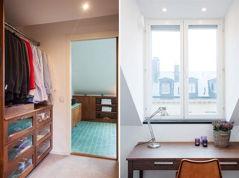 Wardrobe, Desk, Loft Apartment in Kungsholmen, Stockholm