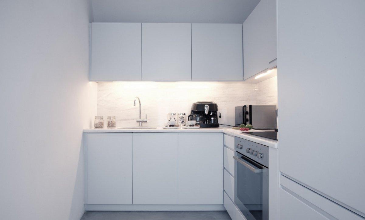 White Kitchen, Villa Renovation in Megalochori, Santorini