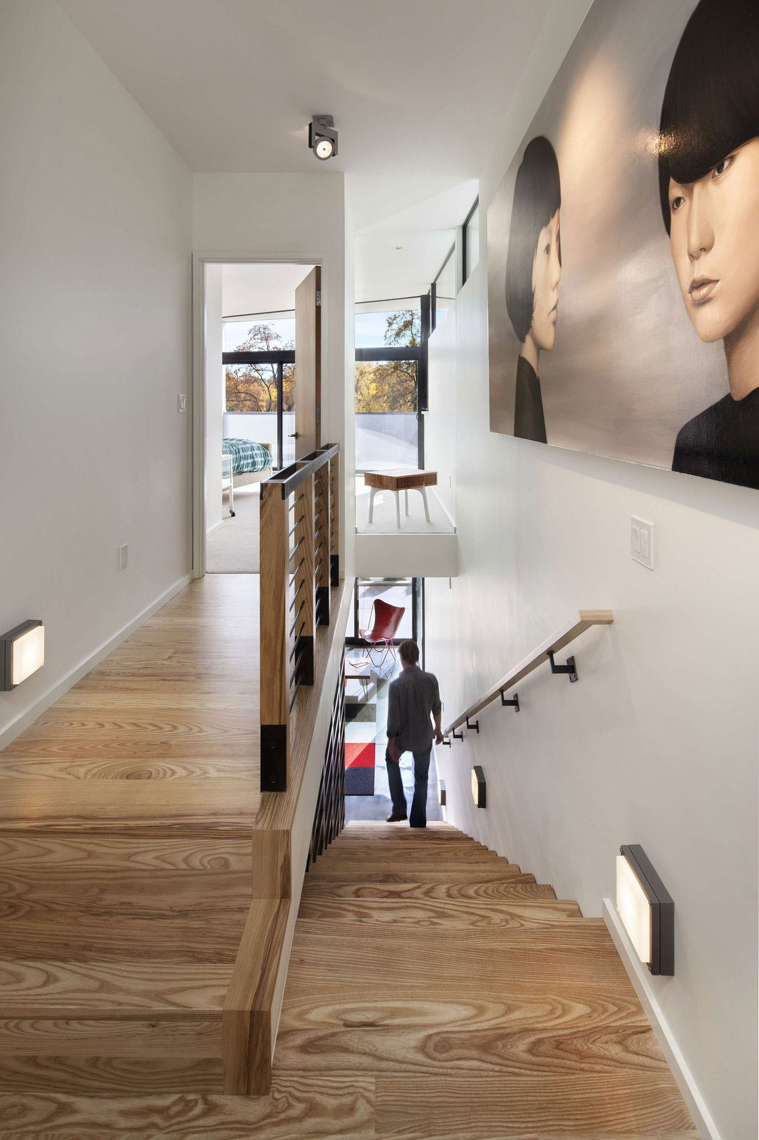 Wooden Flooring, Stairs, Art, Stylish Townhomes near Boulder, Colorado