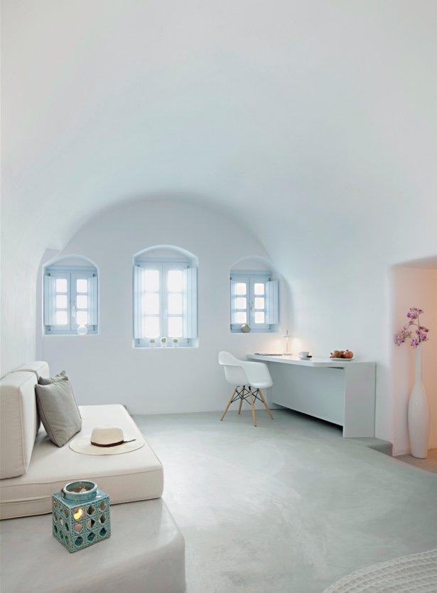 Writing Desk, Bedroom, Villa Renovation in Megalochori, Santorini