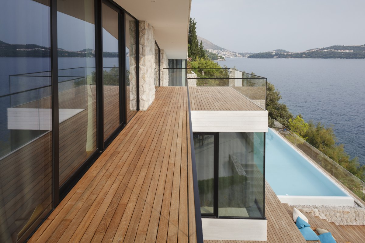 Balcony, Glass Balustrading, House in Dubrovnik, Croatia