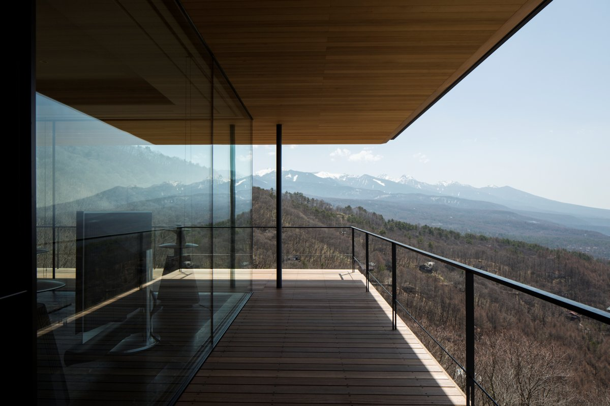 Balcony, Views, Mountain House in Nagano, Japan