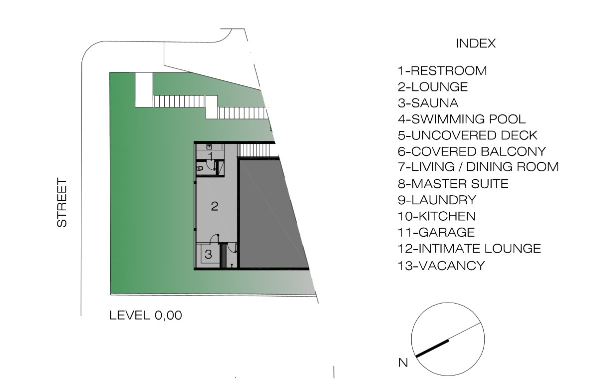 Basement Floor Plan, Contemporary Home in Nova Lima, Brazil