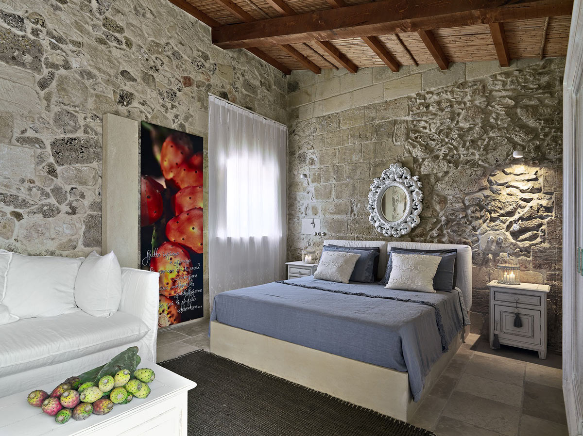 Bedroom, Relais Masseria Capasa Hotel in Martano, Italy