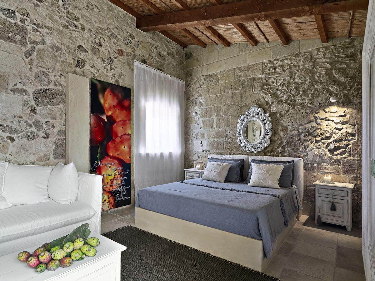 Bedroom, Relais Masseria Capasa Hotel in Martano, Italy
