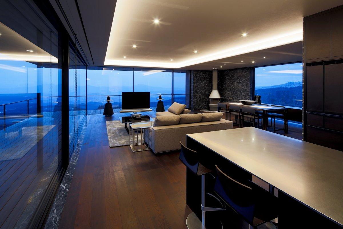 Breakfast Bar, Open Plan Living, Dining Space, Mountain House in Nagano, Japan