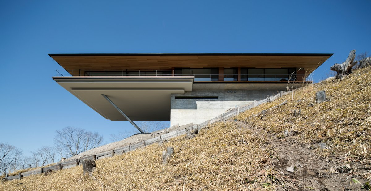 Cantilever, Mountain House in Nagano, Japan